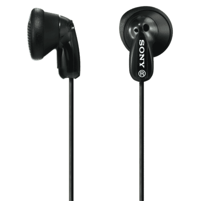 In Ear MDRE9LPB Black Headphones