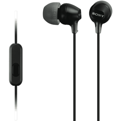 In Ear MDREX15APB Black Headphones